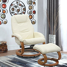 PU Leather Recliner Office Armchair with