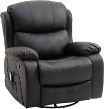 PU Leather Recliner Sofa Massage Chair Swivel
