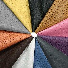 PU Ostrich Skin Texture Leatherette Fabric, Crafts