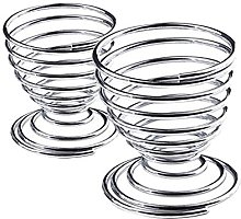 pu ran- 2Pcs Metal Spiral Spring Wire Tray Egg Cup