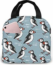 Puffins Dark Navy Blue Puffins Lunch Bag Reusable