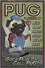 Pug - Retro Plumbing Ad 500 Pieces Jigsaw Puzzle