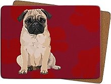 Pug Table Mat by Leslie Gerry - Placema