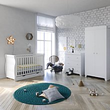 Puggle Little Acorns Sleigh Cot 6 Piece Nursery