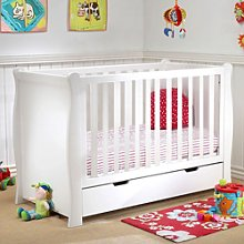 Puggle Sleigh Cot With Drawer & Maxi Air Cool