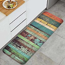 PUIO Multi Use Kitchen Rug Sets,Wood material