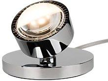 Puk Spot LED table spotlight, chrome