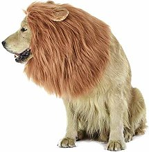 PULABO Lion Mane Wig for Dog and Cat Costume with