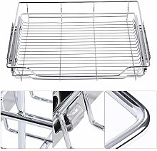 Pull-Out Cabinet Basket Stainless Steel Bowl Pan