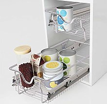 Pull Out Drawer,2Pcs 300mm Kitchen Chromed Metal