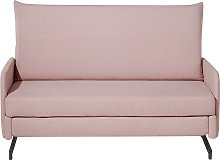 Pull Out Fabric Sofa Bed Polyester Reclining