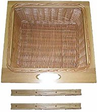 Pull Out Solid Beech Wicker Basket Drawer with