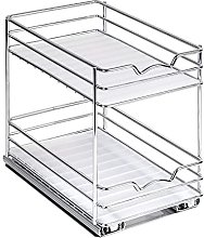 Pull Out Spice Rack Cabinet Organizer, 2 Layers