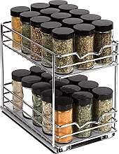 Pull Out Spice Rack Organizer for Cabinet, Double