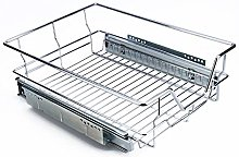 Pull Out Storage Basket for Kitchen, 400mm Chrome