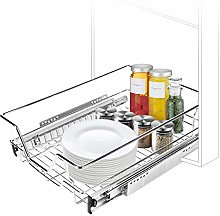Pull Out Wire Basket, 400mm Kitchen Base Unit,