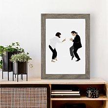 Pulp Fiction Inspired Dancing Wall Art Print   A4