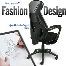 Puluomis - Office Chair Black Ergonomic Desk Chair