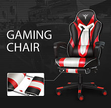 Puluomis - Video Gaming Chair Red Racing Office PU