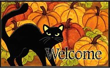 Pumpkin Patch Cat Doormat by MatMates