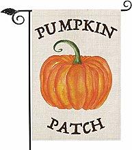Pumpkin Patch Garden Flag Vertical Double Sided