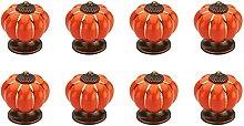 pumpkin-shaped drawer / door buttons, set of 8,