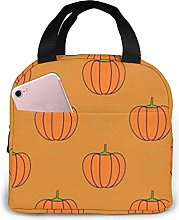 Pumpkins Insulated Lunch Bag Cooler Tote with