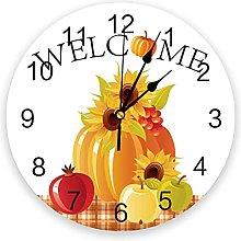 Pumpkins Silent Non Ticking Wall Clock, Battery