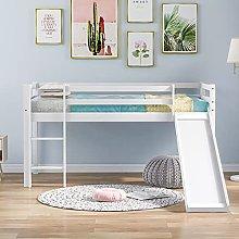Pumpumly Childrens Cabin Bed Frame with Slide