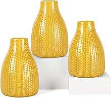 Pumxi Ceramic Flower Vases Set of 3 Handmade