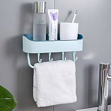 Punch-Free Plastic Bathroom Shelf Shower Shampoo
