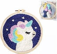 Punch Needle Embroidery Starter Kits, Cartoon Rug