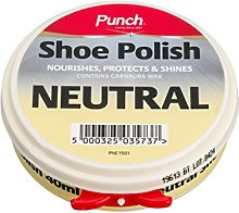 Punch Shoe Care Mens Neutral 40Ml Shoe Polish One