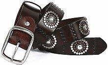 Punk Rock Belt Men And Women Leather Belt Belt