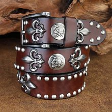 Punk Rock Belt Studded Leather Punk Belt Genuine