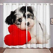 Puppy Dog Curtain for Kids Boys Girls Cute Dog