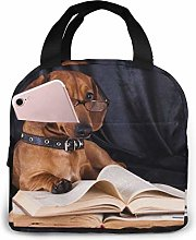 Puppy Purebred Dachshund Lunch Bag Cooler Bag