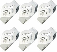 PURATEN Tablecloth Clips,6Pcs Decorative Stainless