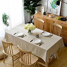 Pure Color Cotton And Linen Household Table Cloth,