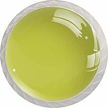 Pure Luminous Yellow ColorRound Glass knob White