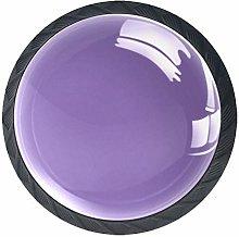 Pure Purple Color Cabinet Door Knobs Handles Pulls