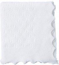 Pure White Cotton Christening Shawl | Pure Cotton