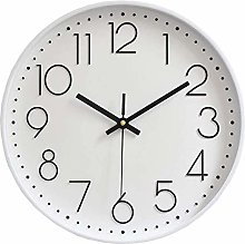 Pure White Dial Wall Clock -Glass Cover