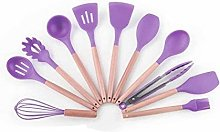 Purple 11 Pieces Cooking Spatula Turner Kitchen