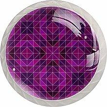 Purple 4PCS Drawer Knobs,Cabinet Knobs,Drawer Pull