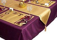 Purple 54 X 70 inch (137 x 178 cm) Rectangle