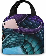 Purple and Blue Green Dragon Cooler Bag Oxford