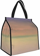 Purple and Orange Sky During Sunset Lunch Tote