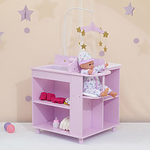 Purple Baby Doll Changing Table Nursery Playset