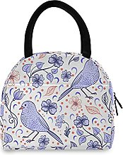Purple Birds Lunch Bag Cooler Bag Insulated Lunch